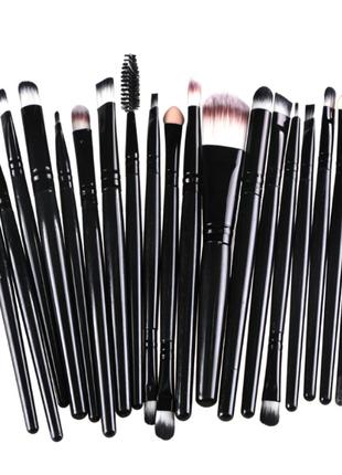Набор кистей для макияжа 20 шт 13-15 см, видео обзор