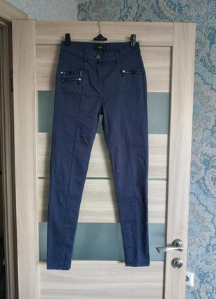 Стильные синие хлопковые брюки на каждый день