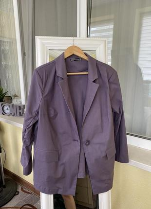 Женский стильный пиджак блейзер лён