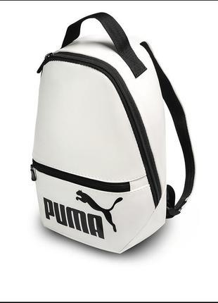 """Жіночий рюкзак b&m mini """"puma""""з еко-шкіри білий"""