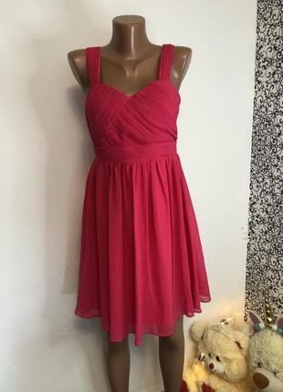 💫летнее яркое малиновое платье jane norman