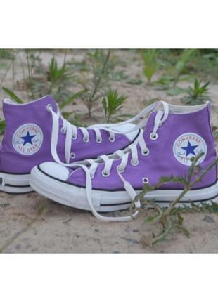 Фіолетові фиолетовые конверси конверсы converse all star hight высокие високі 38