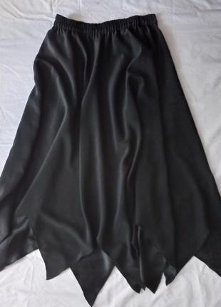 Черная готическая ведьминская альтернативная миди юбка-солнце goth goblincore