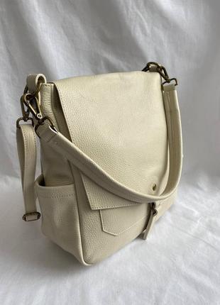 Сумка кожаная женская с длинной ручкой на плечо genuine leather италия, сумка шкіряна жіноча,