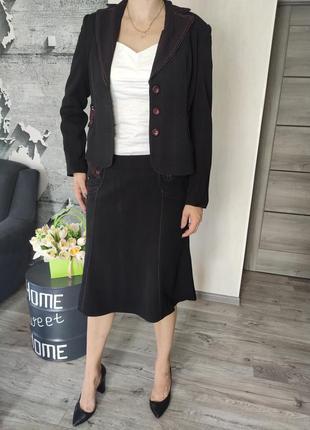 Костюм женский   - юбка и пиджак(1402)