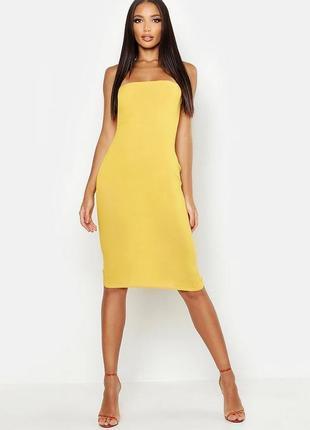 Новое платье футляр. платье миди открытые плечи