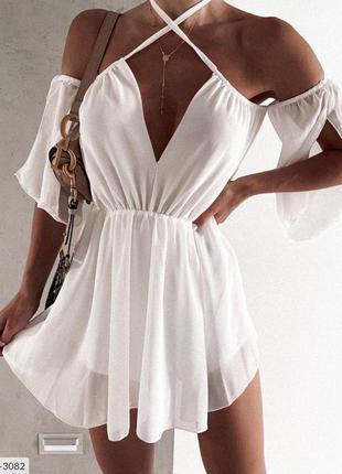 Вечернее шифоновое платье.