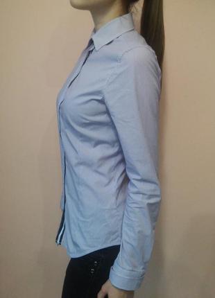 Хлопковая рубашка zara в полоску