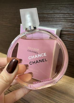 Chanel chance eau tendre (edt) 100 мл оригинал.  шанель шанс тендер розовый.