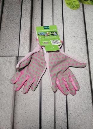Женские садовые перчатки розовые маленькие