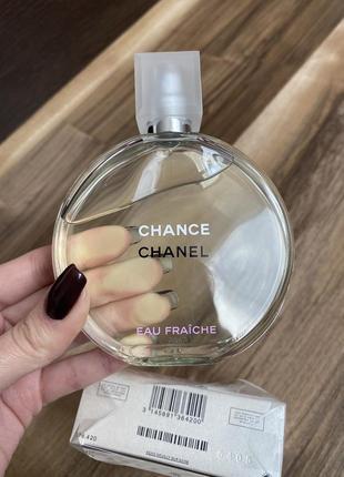 Chanel chance eau fraiche (edt) 100 мл оригинал.  шанель фрэш зеленый