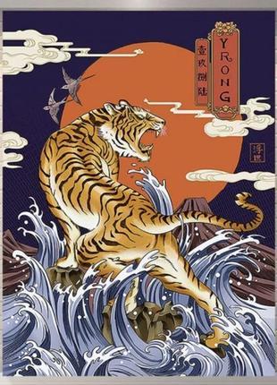 Картина-гобелен текстильная тигр