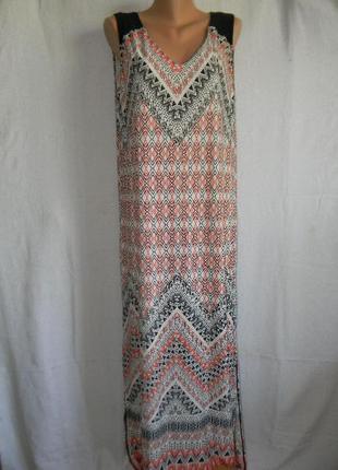 Распродажа!!!длинное платье с геометрическим принтом wallis