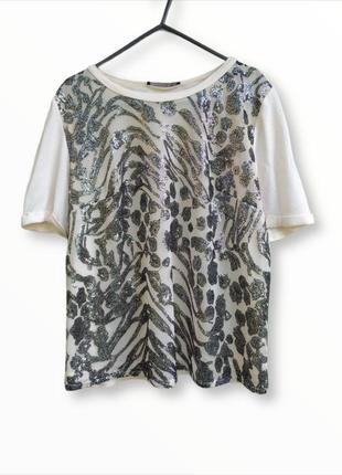 Красивая ,нарядная блузка с серебряной пайеткой atmosphere