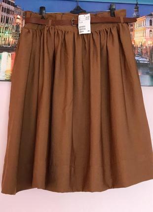 Стильная юбка с кармашками