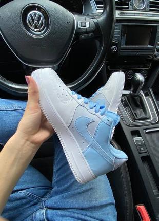 Женские кроссовки air force 1 psychic blue
