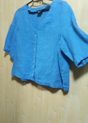 Яркая блуза из льна