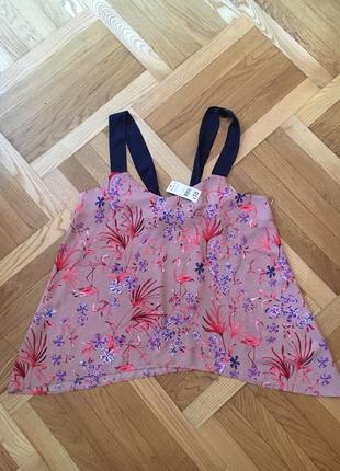 Новый легкий шифоновый летний топ топик майка маечка блуза