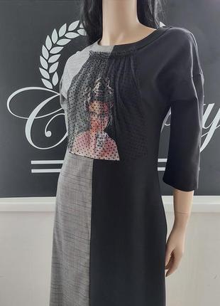 Стильное красивое турецкое платье с принтом
