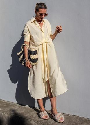 H&m очаровательное платье/тунника ванильного цвета