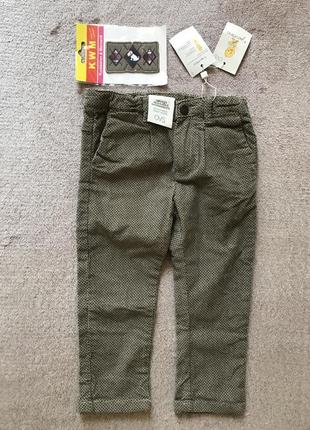 Изысканные итальянские штаны микровельвет ovs + термонаклейка в подарок