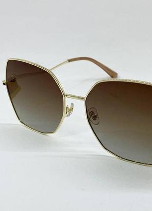 Женские солнцезащитные очки с градиентом и поляризацией в тонкой металлической оправе