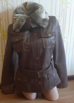 Натуральная кожаная куртка м&со.