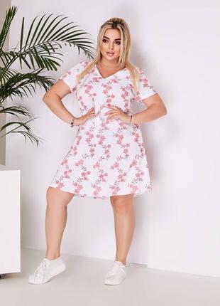 Батальное платье со льна
