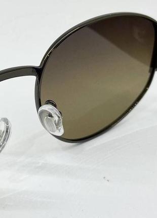 Солнцезащитные очки овальные серо-зеленые линзы с поляризацией с пластиковыми широкими дужками2 фото