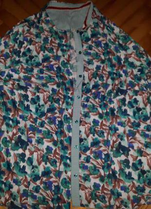 Хлопковая блуза от erfo! p.-46! батал