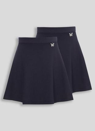 Школьная трикотажная юбка tu на 8-9лет 128-134 см