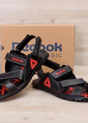 Мужские кожаные сандалии  ns red