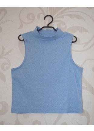 Топ футболка майка блакитний синий голобой синій небесный h&m s m
