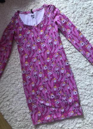 Яркое розовое платье миди sinsay1 фото