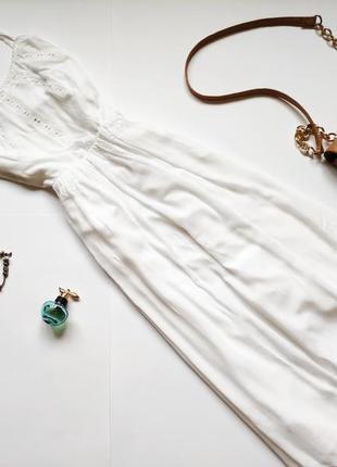 Белое платье макси anthology