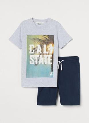 Комплект футболка + шорти h&m для підлітків