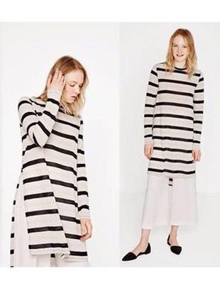 Платье новое стильное в полоску оригинал zara s