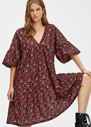 Платье шикарное babydoll pull&bear zara bershka