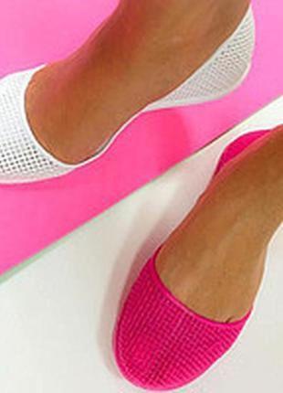 Женские силиконовые балетки, мыльницы коралки, in-ox купить 7 цветов