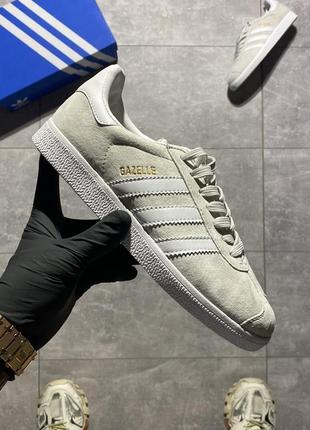Кроссовки adidas gazelle light grey