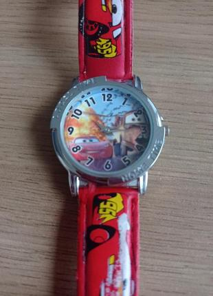 Часы детские тачки, б/у.