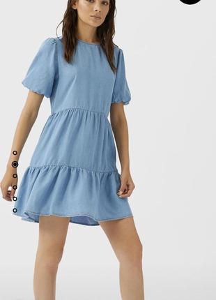 Стильна сукня stradivarius! натуральна тканина!