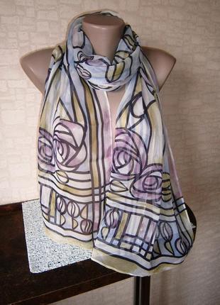 Красивый шарф из натурального шелка. past times