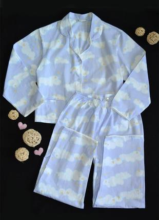Пижамный\домашний комплект bhs  фланель хлопок 100% р.2xl\3xl