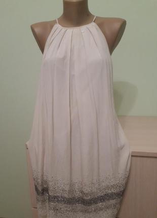 Шикарное шелковое платье, сарафан mango