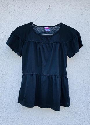 Черная базовая футболка лёгкая