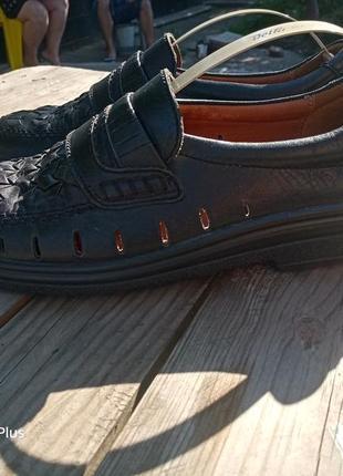 Фирменные легкие и комфортные летние туфли из натуральной кожи hush puppies