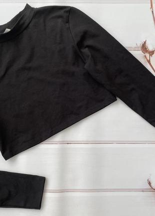 Облегающий укорочённый лонгслив с длинными рукавами. кроп-топ
