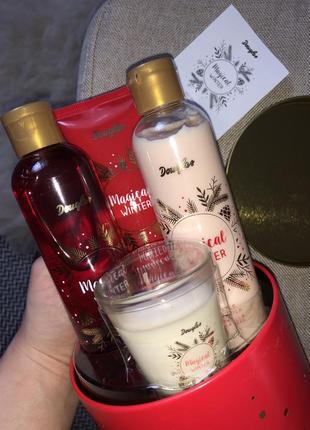 Новогодний подарочный набор douglas magical оригинал италия гель крем свеча