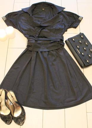 Платье с поясом,